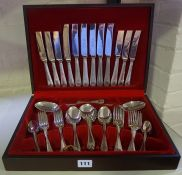 Two Part Canteens of Silver Plated Cutlery, Approximately 90 pieces in total