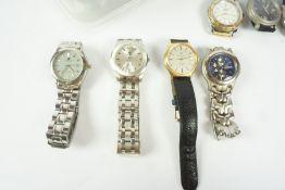 Quantity of Mens Quartz Wristwatches, to include examples by Jules Jurgenson, King Quartz, Guess,
