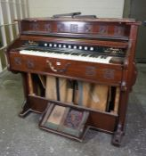 Bell Pump Organ, by the Bell Organ Co, circa early 20th century, 108cm high, 120cm wide, 65cm deep