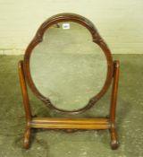 Victorian Mahogany Dressing Mirror, 80cm high