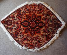 Bakhtiar Rug, Decorated with allover floral medallions on a beige ground, 143cm x 108cm