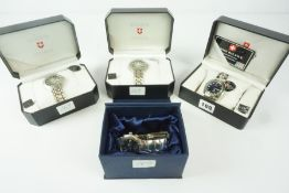 Four Mens Quartz Wristwatches, Comprising of two Zurich Sports watches, Swiss Balance, and King