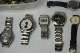 Quantity of Mens Quartz Wristwatches, to include a Royal Marine Commando, Avia, Accurist, Bugle