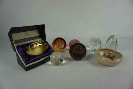 Five Boxes of Sundry China, Glass and Plated Wares, to include Hornsea pottery, table lighters,