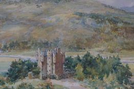 "Frank Watson Wood (British 1900-1985) ""Braemar Castle"" Watercolour, signed Watson Wood to lower"