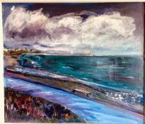"""Stella Rose Bell (English) """"The Gathering Storm"""", acrylic on canvas, signed to lower right, initials"""