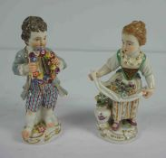 Two Meissen Porcelain Figures, circa late 19th / early 20th century, Modelled as a Girl Flower