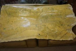 James Wyld, Antique School Map of Surrey, Age Damage to Areas, Approximately 95cm x 205cm