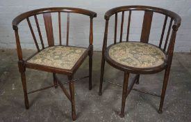 Mahogany Tub Chair, With matching Corner Chair, 75cm high, (2)