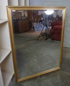 Gilt Framed Wall Mirror, 108cm high, 83cm wide, 4cm deep