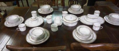 "Noritake ""Blossom Mist"" Porcelain Dinner Set, To include a Tureen, Dinner plates, Soup bowls,"
