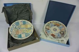 Collection of Wedgwood Calender Plates, Also with a Border Fine Arts and Royal Doulton Plate, All