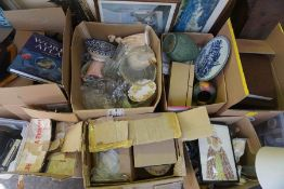 Large Quantity of Sundries, To include China and Glass, Pictures, Encyclopaedias, Vintage Coats,