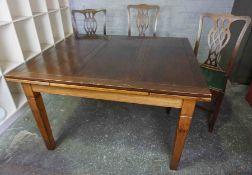 Mahogany Pull Out Dining Table, With Six Chairs, Table 76cm high, 183cm long, 107cm wide, Chairs