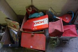 Sundry Lot of Toys and Games, To include a Childs Toy by Mobo, Childs Pram and Dolls House,