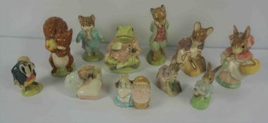 """Six Beswick Beatrix Potter Limited Edition Figures, Comprising of """"Foxy Whiskered Gentleman"""" No 1940"""