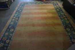 Chinese Style Carpet, Decorated with Floral Medallions on an Orange ground, 329cm x 240cm