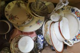 Two Boxes of Sundry China