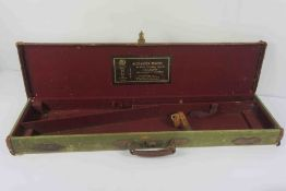 Vintage Army Style Canvas Gun Case, Having label to the fitted interior for Alexander Martin,