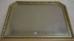 Modern Gilt Framed Overmantel / Wall Mirror, 75cm high, 105cm wide