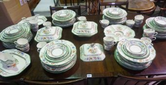 """Copeland Spode """"Chinese Rose"""" Pottery Tea and Dinner Set, To include Tureens, Dinner plates, Side"""