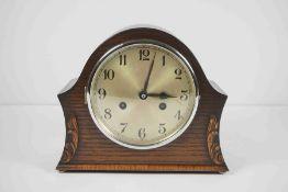 Vintage Oak Cased Mantel Clock, 22cm high