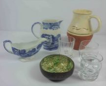 Quantity of Sundries, To include China and Glass, Linen, Bellows, Modern Wall Brackets, Books etc,