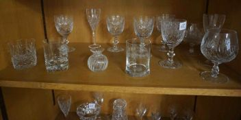 Mixed Lot of Crystal and Glass, To include a Decanter with stopper, Bowls, Vase, Wine and