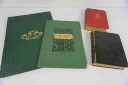 Four 19th Century Books, Comprising of The Dowie Dens O Yarrow, 1860, In green Hardback, A Tour