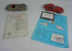 Franklin Mint 1961 Jaguar E Type Coupe Model Car, Also with a Danbury Mint 1949 Jaguar Silver XK-120