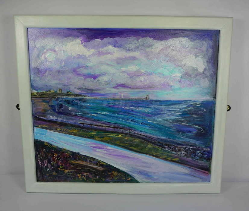 "Lot 23 - Stella Rose Bell (English) ""The Gathering Storm"", acrylic on canvas, signed to lower right, initials"
