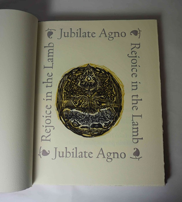 "Lot 13 - Angela Lemaire (British, B.1944) ""Jubilate Agno"", Limited Edition Fine Press Book, signed to back"