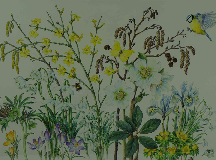 """Margaret Walty (British, B.1952) """"Awakening Garden"""", acrylic on board, initials and dated 2019 to - Image 3 of 5"""