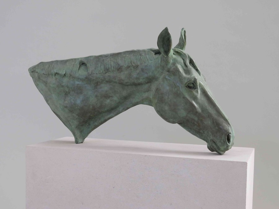 """Lot 41 - Frippy Jameson (British, B.1978) """"At Rest II"""", Bronze on Portland Stone, signed and dated 2020"""