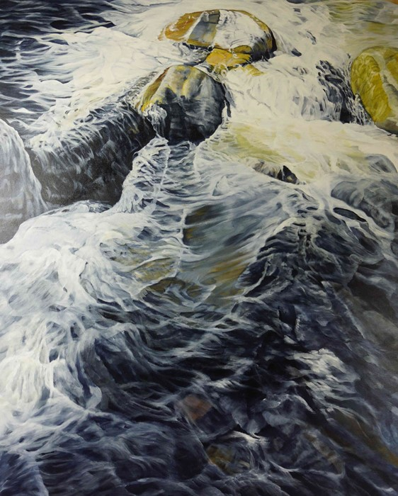 """Lot 15 - Neville Storer B Ed (Hons) (British, B.1948) """"The Stream"""", oil on canvas, signed to lower right,"""