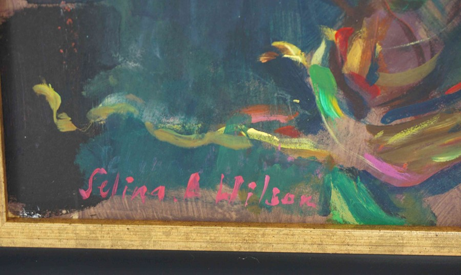 """Selina Wilson (British, B.1986) """"Pink Orchid"""", acrylic on board, signed to lower left, signed and - Image 3 of 6"""