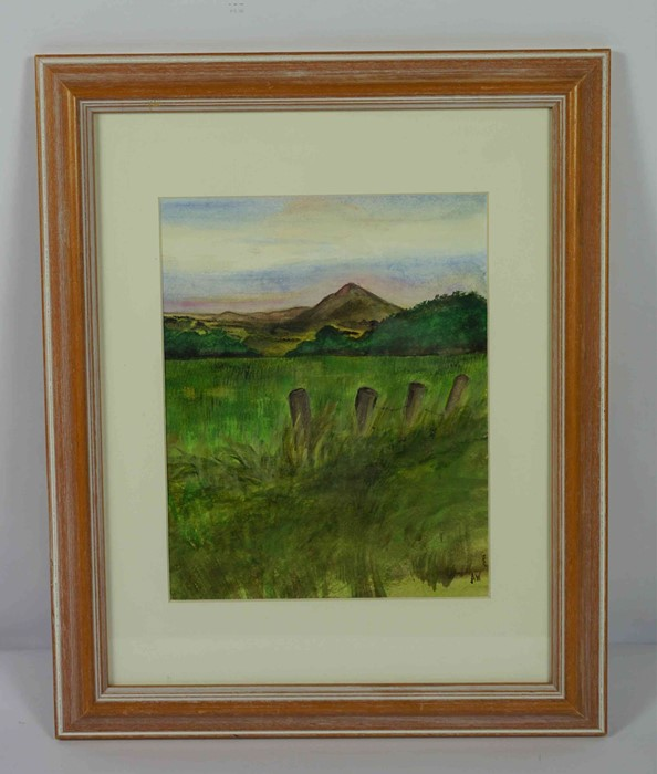 "Anne White (Scottish, B.1960) ""Rubers Law"" watercolour, signed to lower right, 23.5cm x 19cm (Framed - Image 2 of 4"