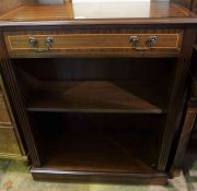 Reproduction Open Bookcase, Having a drawer above open shelving, 70cm high, 74cm wide, 34cm deep