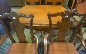 Modern Dining Table with Four Chairs, Table 79cm high, 135cm long, 91cm wide, Also with a Drop
