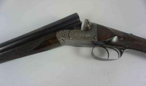 G.E. Bond of London, Boxlock Ejector Shotgun, 12 Guage, Having a Silver ferule to the Walnut