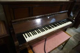 Challen Mahogany Upright Piano, No 38589, 117cm high, 150cm wide, 64cm deep, Also with a Duet