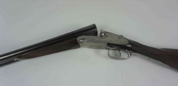 Joseph Lang & Sons of London, Sidelock Ejector Shotgun, 12 Guage, Having a Silver ferule to the