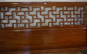 Chinese Style Hardwood Bed End, 107cm high, 159cm wide