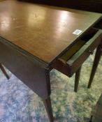 Regency Mahogany Pembroke Table, circa early 19th century, Having a drawer to one end, With opposing