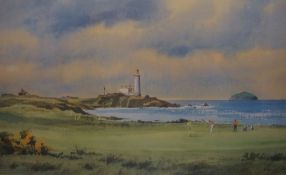 Four Signed Limited Edition Prints, Comprising of three Golfing prints by Dennis Pannett, And a
