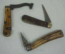 Saynor Cooke & Redal, Pocket Barrel / Gardening Knife, Having an Antler grip, Blade 4cm long, Also