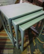 Retro Painted G-Plan Nest of Three Tables, Largest 49cm high, 54cm wide, (3)