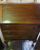 Mahogany Writing Bureau, Having a Fall front enclosing fitted drawers and Pigeon holes, Above