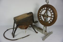 The Amalgamated Dentil Co, Foot Operated Bellows, Also with a Dentist Treadle Drill, (a lot)