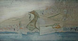 "Robert T. H. Smith (Scottish B 1938) ""Penetrant"" Oil on Board, 16.5cm x 30.5cm, ""Sand / Sound"" Oil"